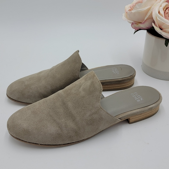 Eileen Fisher Suede Loafers